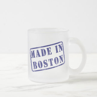 Hecho en Boston Taza De Cristal