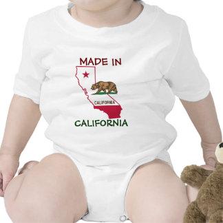 Hecho en California - silueta y bandera Camiseta