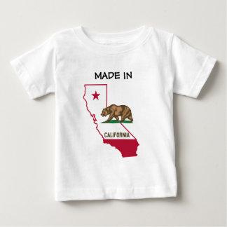 Hecho en California - silueta y bandera Remera