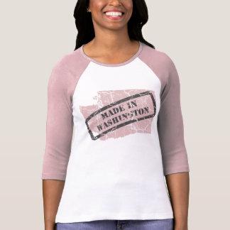 Hecho en camisa rosada del raglán de las señoras