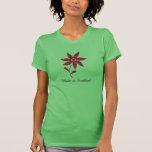 Hecho en camiseta de la flor del tartán de Escocia