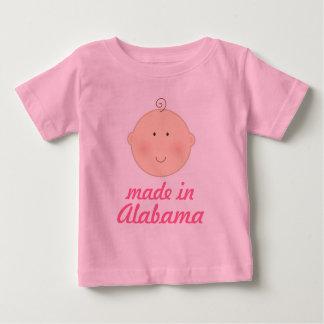 Hecho en camiseta del bebé o del niño de Alabama Playera Para Bebé
