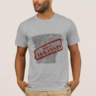 Hecho en camiseta del gris del mapa del Grunge de