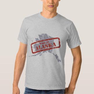 Hecho en camiseta del gris del mapa del Grunge de Playeras