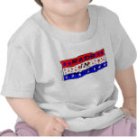 Hecho en camiseta del niño de América