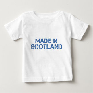 Hecho en camiseta del niño de Escocia