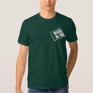 HECHO EN camiseta del sello de RÍO Playera