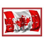 Hecho en Canadá (fondo de la bandera)