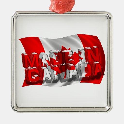 Hecho en Canadá (fondo de la bandera) Adorno De Reyes