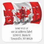 Hecho en Canadá (fondo de la bandera) Calcomanía Cuadrada