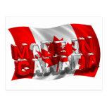 Hecho en Canadá (fondo de la bandera) Postales