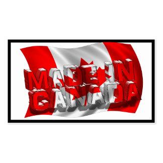 Hecho en Canadá (fondo de la bandera) Tarjetas De Visita