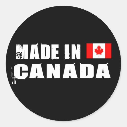 Hecho en Canadá Pegatina Redonda