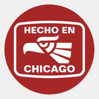 Hecho en Chicago personalizado custom personalized Classic Round Sticker