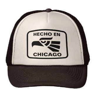 Hecho en Chicago personalizado custom personalized Mesh Hat