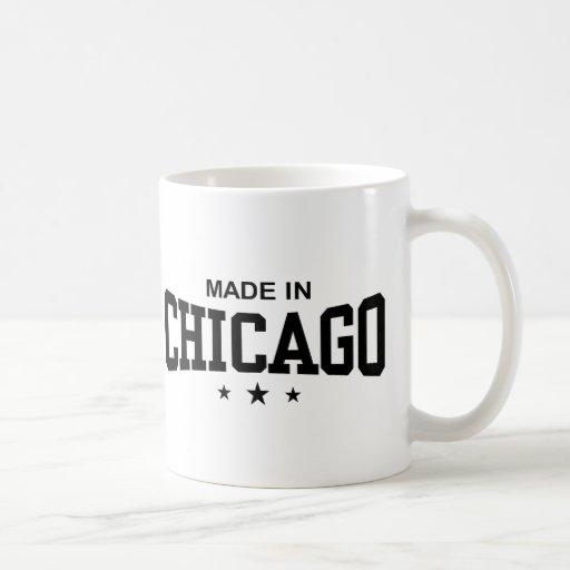 Hecho en Chicago Taza Básica Blanca