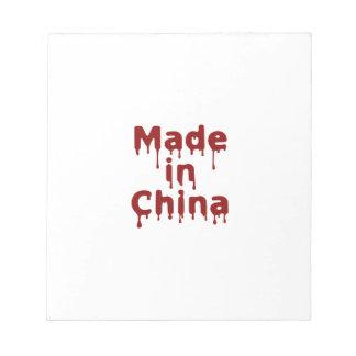 Hecho en China Blocs De Papel