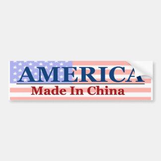 Hecho en China Pegatina De Parachoque