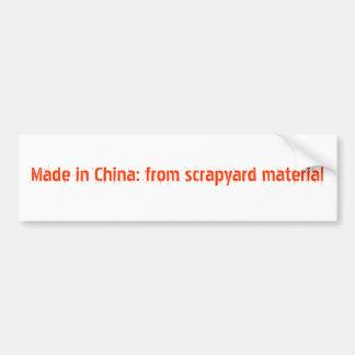 hecho en China del material del scrapyard Pegatina Para Auto