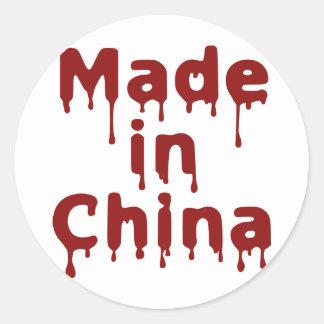 Hecho en China Pegatina Redonda