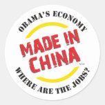 Hecho en China Pegatinas Redondas
