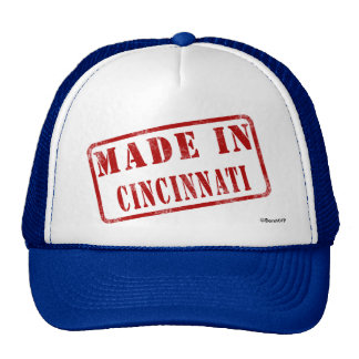 Hecho en Cincinnati Gorras De Camionero