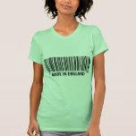 hecho en código de barras de la clave de barras de camiseta