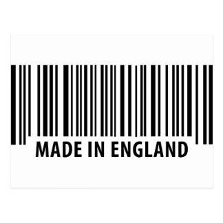 hecho en código de barras de la clave de barras de postales