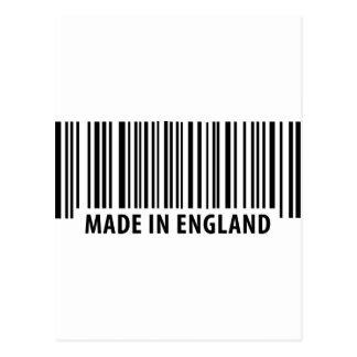 hecho en código de barras de la clave de barras de tarjeta postal