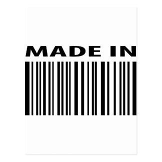 hecho en código de barras en blanco de la clave de postal