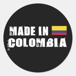 Hecho en Colombia Pegatinas Redondas