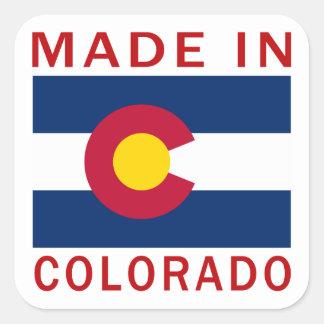 Hecho en Colorado Pegatina Cuadradas