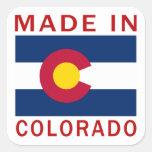Hecho en Colorado Pegatina Cuadrada