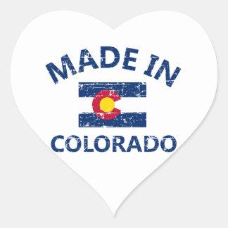 Hecho en Colorado Pegatina En Forma De Corazón