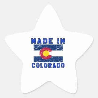 Hecho en Colorado Pegatina En Forma De Estrella