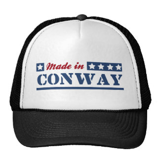Hecho en Conway Gorras De Camionero