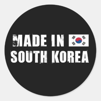 Hecho en Corea del Sur Pegatina Redonda
