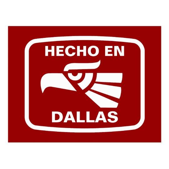 Hecho en Dallas personalizado custom personalized Postcard