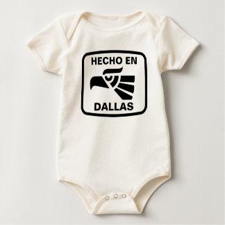 Hecho en Dallas personalizado custom personalized Romper