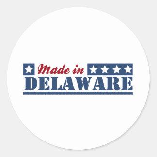Hecho en Delaware Pegatinas Redondas
