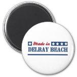 Hecho en Delray Beach Imán Para Frigorifico