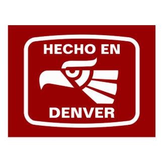 Hecho en Denver personalizado custom personalized Postcard
