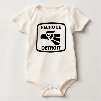 Hecho en Detroit personalizado custom personalized Bodysuit