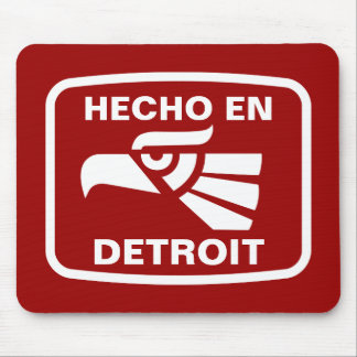 Hecho en Detroit personalizado custom personalized Mouse Pad