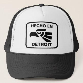 Hecho en Detroit personalizado custom personalized Trucker Hat