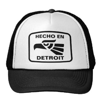 Hecho en Detroit personalizado custom personalized Trucker Hat
