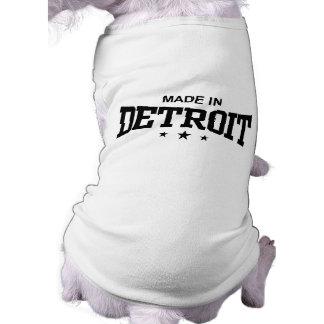 Hecho en Detroit Playera Sin Mangas Para Perro