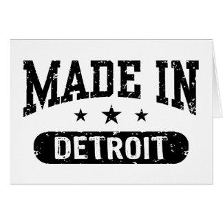Hecho en Detroit Felicitaciones