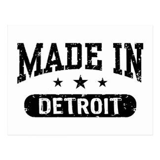 Hecho en Detroit Tarjetas Postales
