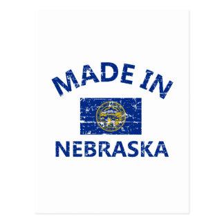 Hecho en diseños de la bandera de NEBRASKA Estados Postales